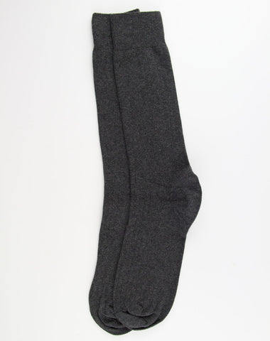 Escuyer Classic Ribbed Socks - Anthracite