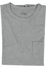 Escuyer Pocket Crew Neck T-Shirt - Grey Melange