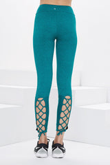 Lanston Sport Arlo Lace Back Leggings