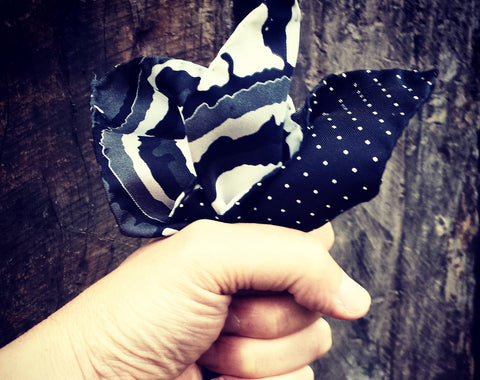 L'Ascari Silk Pocket Square. No 3
