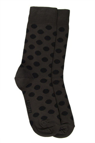 LAFITTE BAMBOO SPOT SOCKS - CHARCOAL/BLACK