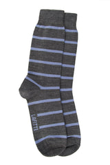 LAFITTE WOOL STRIPE SOCKS - GREY