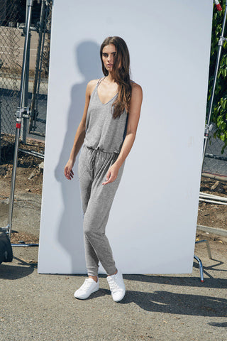 Lanston Double Strap Jumpsuit - Heather