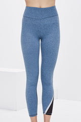 Lanston Sport Skylar Asymmetrical Leggings - Wave