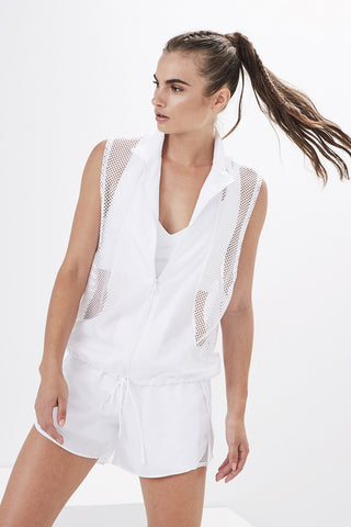 Lanston Sport EMMET DROP SLEEVE VEST - White **SOLD OUT**