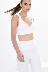 Lanston Sport Avery V Bra - White **SOLD OUT**
