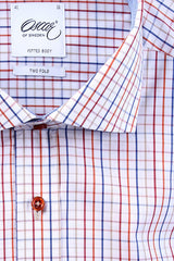"Oscar of Sweden ""Orange Check"" Shirt"
