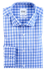 "Oscar of Sweden ""Riviera Blue Check"" Shirt"