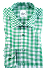 "Oscar of Sweden ""CACTUS GREEN CHECK"" Shirt (Regular Fit)"
