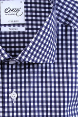"Oscar of Sweden ""INDIGO BLUE CHECK"" Shirt"