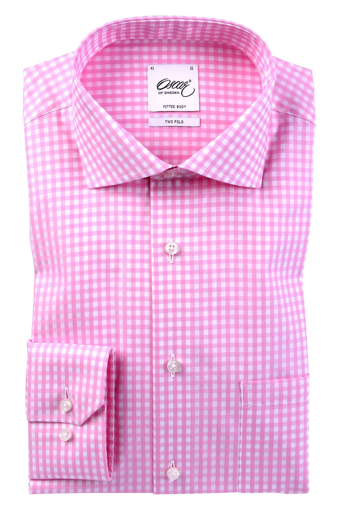 "Oscar of Sweden ""PINK CHECK"" Shirt (Regular Fit)"