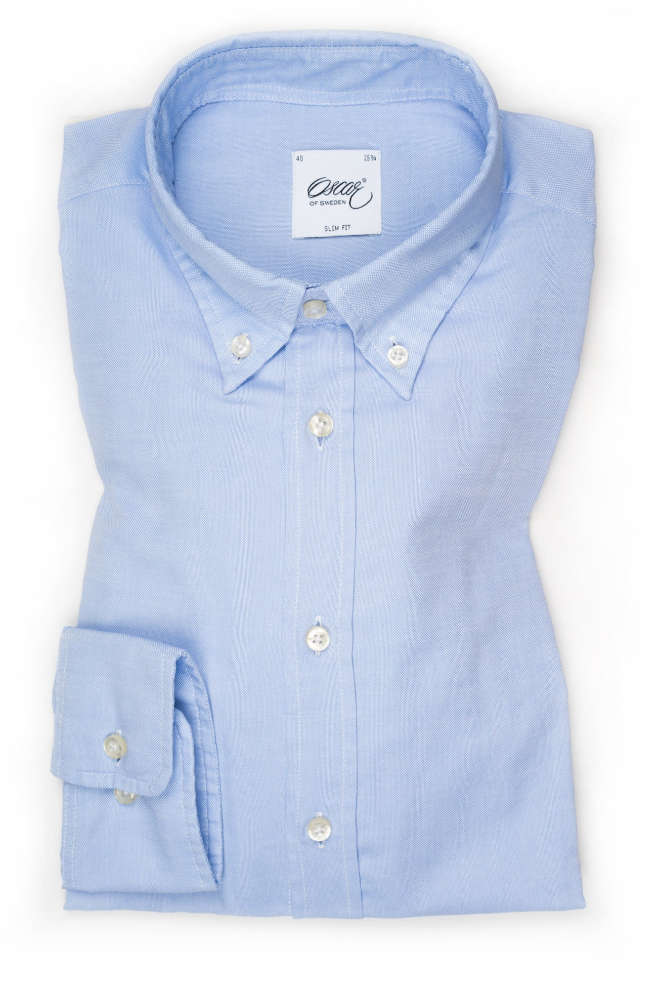 "Oscar of Sweden ""Light Blue Button-Down Collar"" Shirt (Slim Fit)"