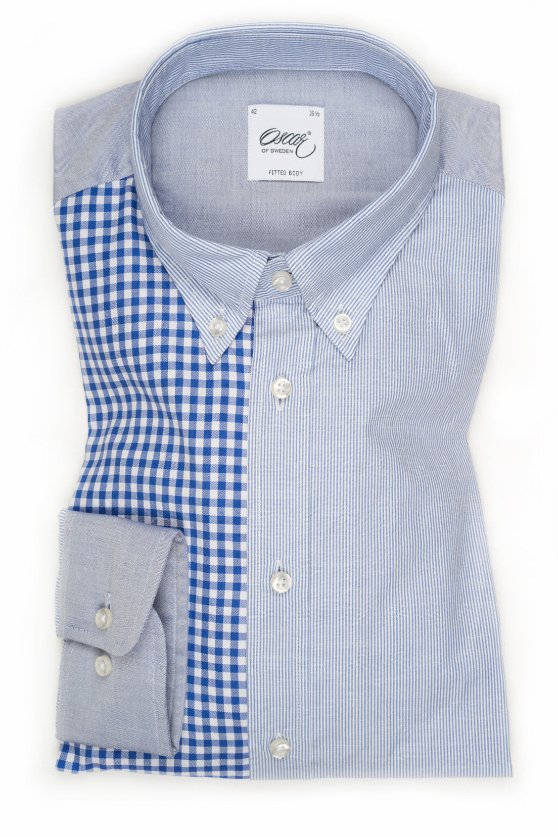 "Oscar of Sweden ""Patchworks"" Shirt (Slim Fit)"