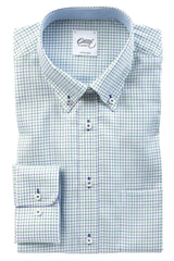 "Oscar of Sweden ""Cactus Green Check"" Shirt (Classic Fit)"