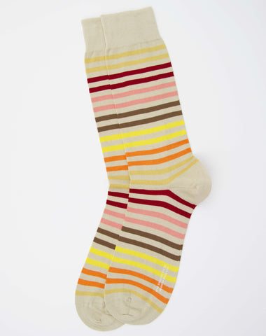 Pantherella Colour Block Stripe Socks