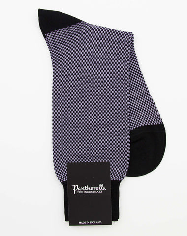 Pantherella Chequered Cotton Socks - Black