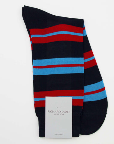 Richard James 'Savile Row' 100% Cotton Socks