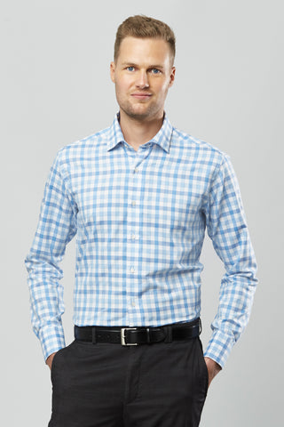 "Sebastien James ""Henry"" Casual Shirt - Blue"