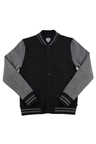 Beren of L.A Varsity Jacket - Black/Grey