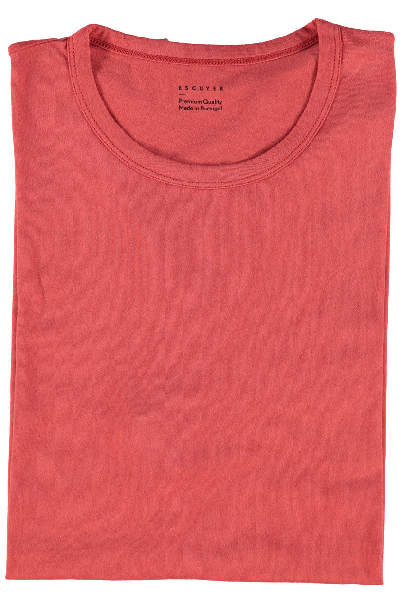 Escuyer Crew Neck T-shirt - Scarlet