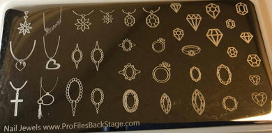 Profiles - Nail Jewels Stamping Plate