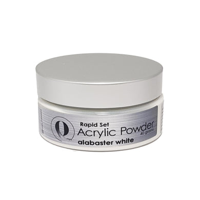 Onyx Acrylic Powder RAPID SET - Alabaster White 40gm