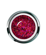 Load image into Gallery viewer, UV/LED GEL PLAY - GLITTER RASPBERRY DAZZLE 4gm