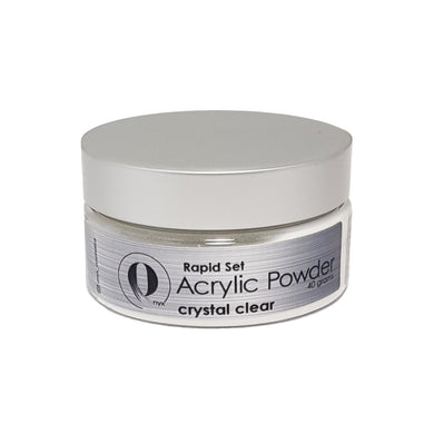 Onyx Acrylic Powder RAPID SET - Crystal Clear 40gm