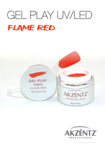UV/LED GEL PLAY - FLAME RED 4gm
