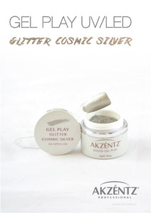 UV/LED GEL PLAY - GLITTER COSMIC SILVER 4gm