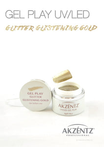 UV/LED GEL PLAY - GLITTER GLISTENING GOLD 4gm