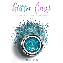 Load image into Gallery viewer, UV/LED GEL PLAY - GLITTER TEAL CRUSH 4gm