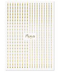 Moyra Nail Art Strips - Gold Dots 01
