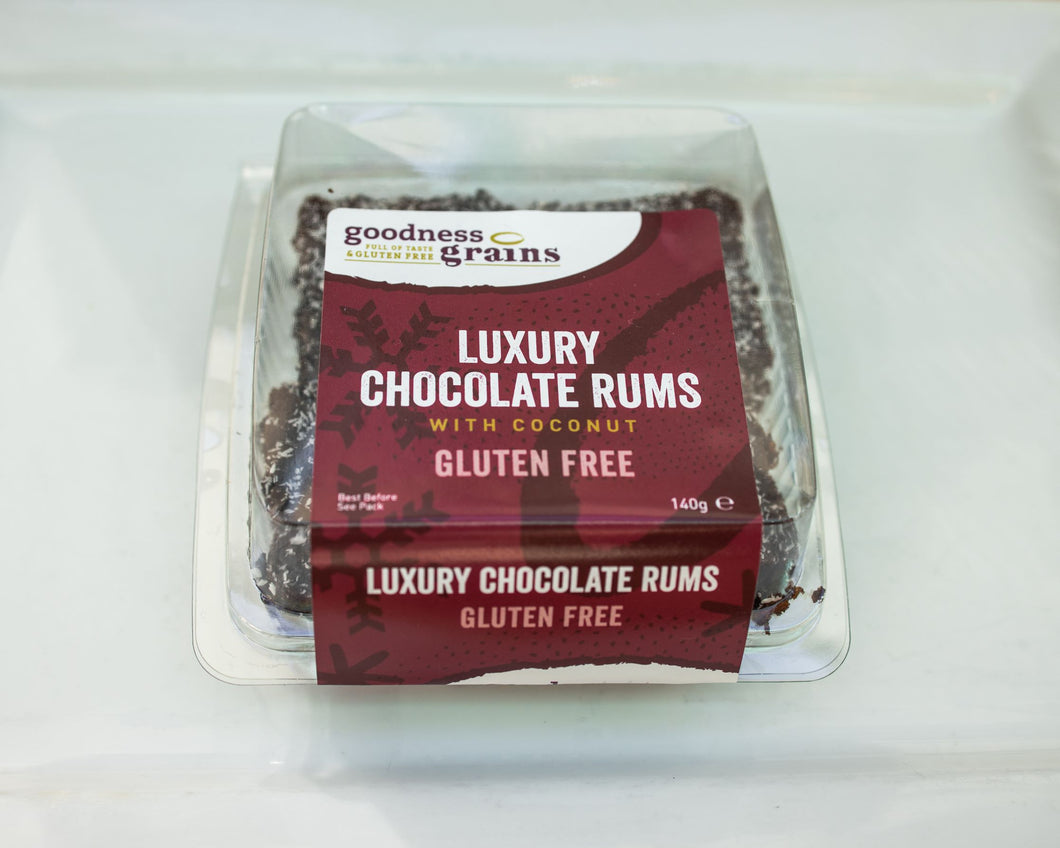 CHRISTMAS NEW .... Luxury Chocolate Rums with Coconut 4 pack 140g .....  (DAIRY FREE too)