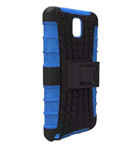 Galaxy Note 3 Case, Galaxy Note 3 Armor cases- Tough Armorbox Dual Layer Hybrid Hard/Soft Protective Case by Cable and Case - Blue Armor Case