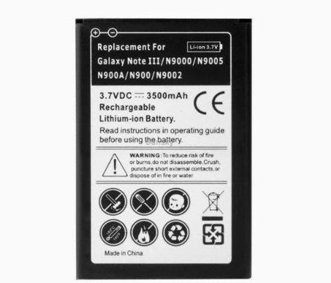 Note 3 Battery, Samsung Note 3 Battery III N9000 N9002 N9005 N900 Replacement Battery 2 Pack In Retail Package - Non OEM By Cable and Case® - (Non-NFC) Galaxy Note 3 Batteries