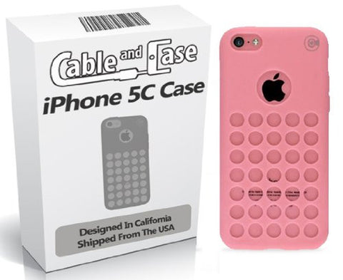 iPhone 5C Case, iPhone 5C cases- Phone Case 5c Soft Skin Case For The New iPhone 5C In Retail Package - Circle Colors - Dots Holes - Shell - Skin Cover Designed And Shipped From The USA By Cable and Case®