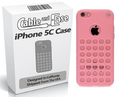 iPhone 5C Case [Rubber] Designer 5C Cases [6 Pack] - Compatible With The Apple iPhone 5C, Pink