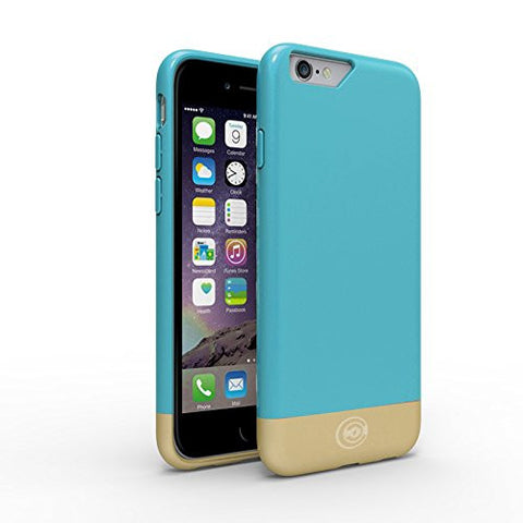 iPhone 6 Case [Flawless Series] By Cable and Case [LIFETIME WARRANTY]. Designer Cases For The Apple iPhone 6, Aqua/Gold - iPhone 6 Case