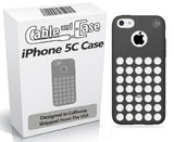 iPhone 5C Case, iPhone 5C cases- [2 PACK] Black Phone Case 5c Soft Skin Case With Screen Protector For The New iPhone 5C In Retail Package - Circle Colors - Dots Holes - Shell - Skin Cover Designed And Shipped From The USA By Cable and Case¨