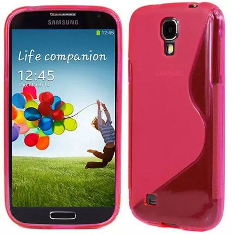 Galaxy S4 Case, Galaxy S4 Cases- [2 Pack] Compatible With Samsung Galaxy S4 SIV S IV i9500 s4 case- Soft Jelly Case Shell Cover Skin Cases By Cable and Case - Pink Galaxy S4 Case