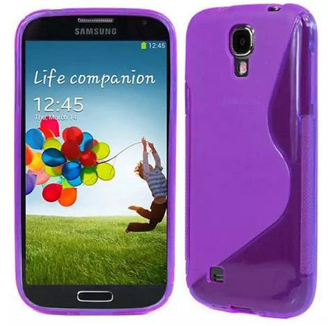 ggGalaxy S4 Case, Galaxy S4 Cases- [2 Pack] Compatible With Samsung Galaxy S4 SIV S IV i9500 s4 case- Soft Jelly Case Shell Cover Skin Cases By Cable and Case - Purple Galaxy S4 Case