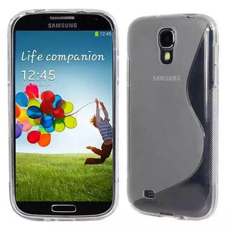 Galaxy S4 Case, Galaxy S4 Cases- [2 Pack] Compatible With Samsung Galaxy S4 SIV S IV i9500 s4 case- Soft Jelly Case Shell Cover Skin Cases By Cable and Case - Clear Galaxy S4 Case