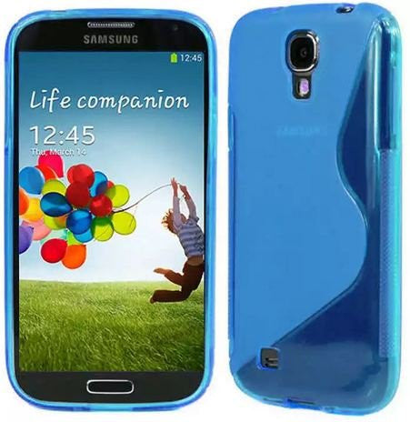 Galaxy S4 Case, Galaxy S4 Cases- [2 Pack] Compatible With Samsung Galaxy S4 SIV S IV i9500 s4 case- Soft Jelly Case Shell Cover Skin Cases By Cable and Case - Blue Galaxy S4 Case