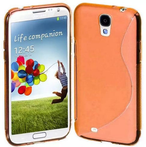 Galaxy S4 Case, Galaxy S4 Cases - Compatible With Samsung Galaxy S4 SIV S IV i9500 - Soft Shell Cover Skin Cases By Cable and Case - Orange S4 Cases