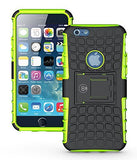iPhone 6 Case, iPhone 6S Case by Cable and Case - iPhone 6 [HEAVY DUTY] Cases [iPhone6 6S - 4.7] Tough Dual Layer 2 in 1 Rugged Rubber Hybrid Hard/Soft Drop Impact Resistant Protective Cover [With Kickstand] Designed and shipped from the U.S.A. - Green Ar