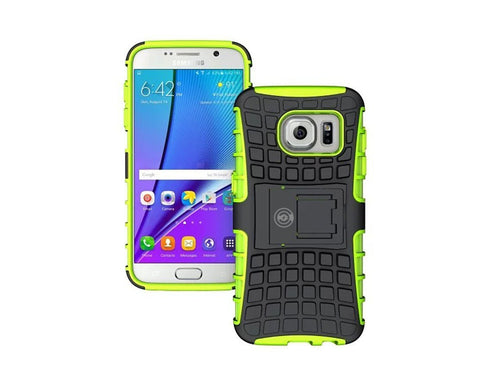 Galaxy s7 Case, By Cable And Case®, Galaxy s7 Armor Cases- Compatible With Samsung Galaxy s7 SIV S IV - Soft/Hard Shell 2 in 1 Tough Protective Cover Skin - Green s7 Case