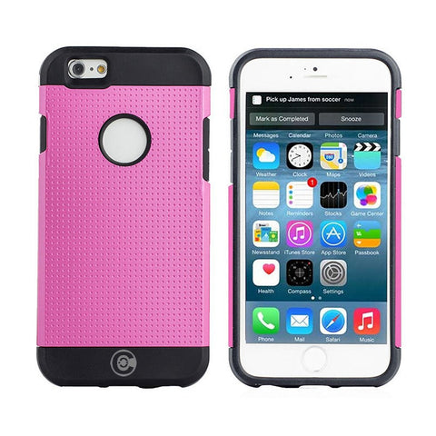 iPhone 6S Case, iPhone 6 Cases By Cable And Case - Apple iPhone6S [Non-Slip] [HEAVY DUTY] [Exact-Fit] Pink iPhone 6 (4.7) Case Slim **NEW** [Micro Dots] [Thin Fit] [Armor Back] Non Slip Matte Hard Case - Armor Case
