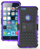 iPhone 6 Case, iPhone 6S Case by Cable and Case - iPhone 6 [HEAVY DUTY] Cases [iPhone6 6S - 4.7] Tough Dual Layer 2 in 1 Rugged Rubber Hybrid Hard/Soft Drop Impact Resistant Protective Cover [With Kickstand] Designed and shipped from the U.S.A. - Purple A