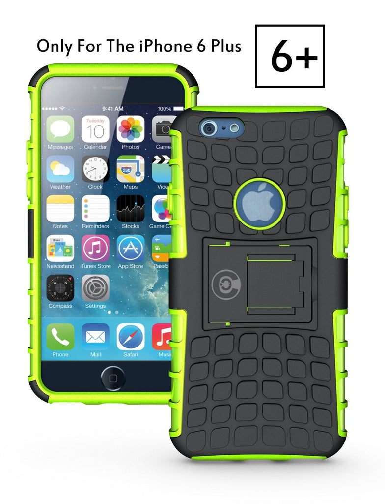 new product 5a919 fe3b3 iPhone 6 Plus Case, iPhone 6/6S Plus Armor cases (6+) Tough Rugged  Shockproof Armorbox Dual Layer Hybrid Hard/Soft Slim Protective Case (5.5  inch) by ...